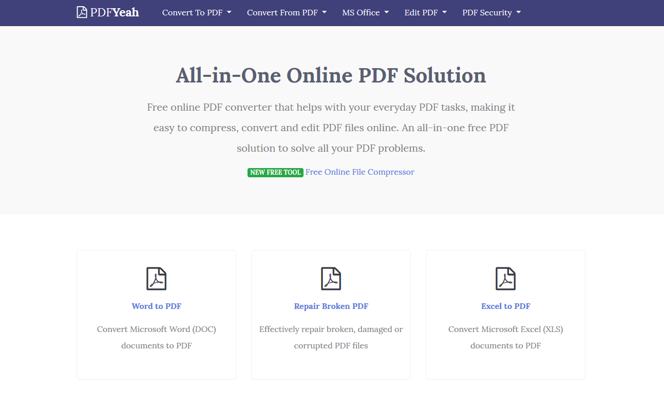 Online PDF Converter, All-in-One Online PDF Solution | PDFYeah